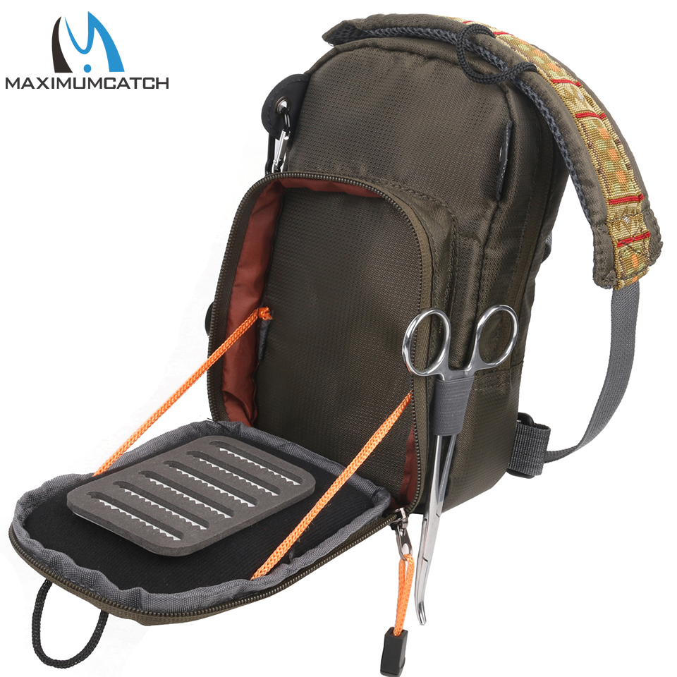 Fly fishing bag fishing chest pack fly bag with five for Fishing chest pack