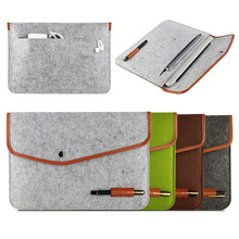 2016 New Real Genuine Felt Sleeve Laptop Case Cover Bag for  MacBook Air Pro Retina  11″ 12″ 13″ 15″ Free shipping