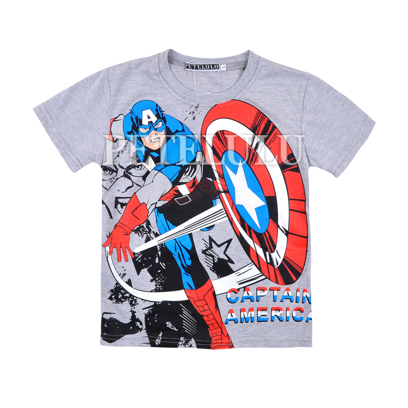 wholesale boy summer tees baby Captain America clothing
