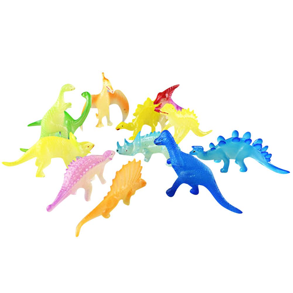 12Pcs/Pack Cool Luminous Dinosaur Models Night Light Mini Tyrannosaurus Stegosaurus Pterosaur Toys Flashing Educational Toy(China (Mainland))