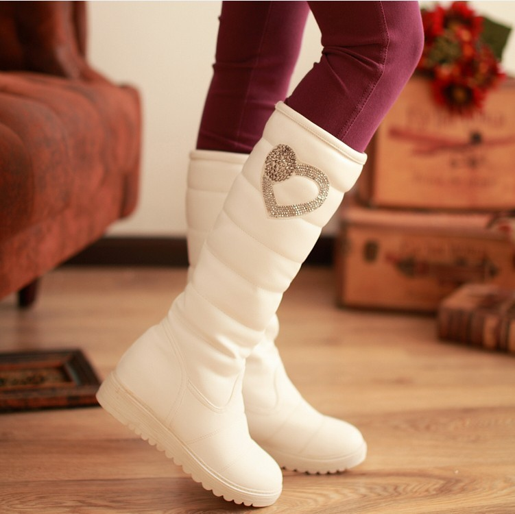 Гаджет  ENMAYER New 2013 Fashion  Snow Boots Winter Casuals Flat Platform Shoes Sexy Knee High Knight Booties Free Shipping None Обувь