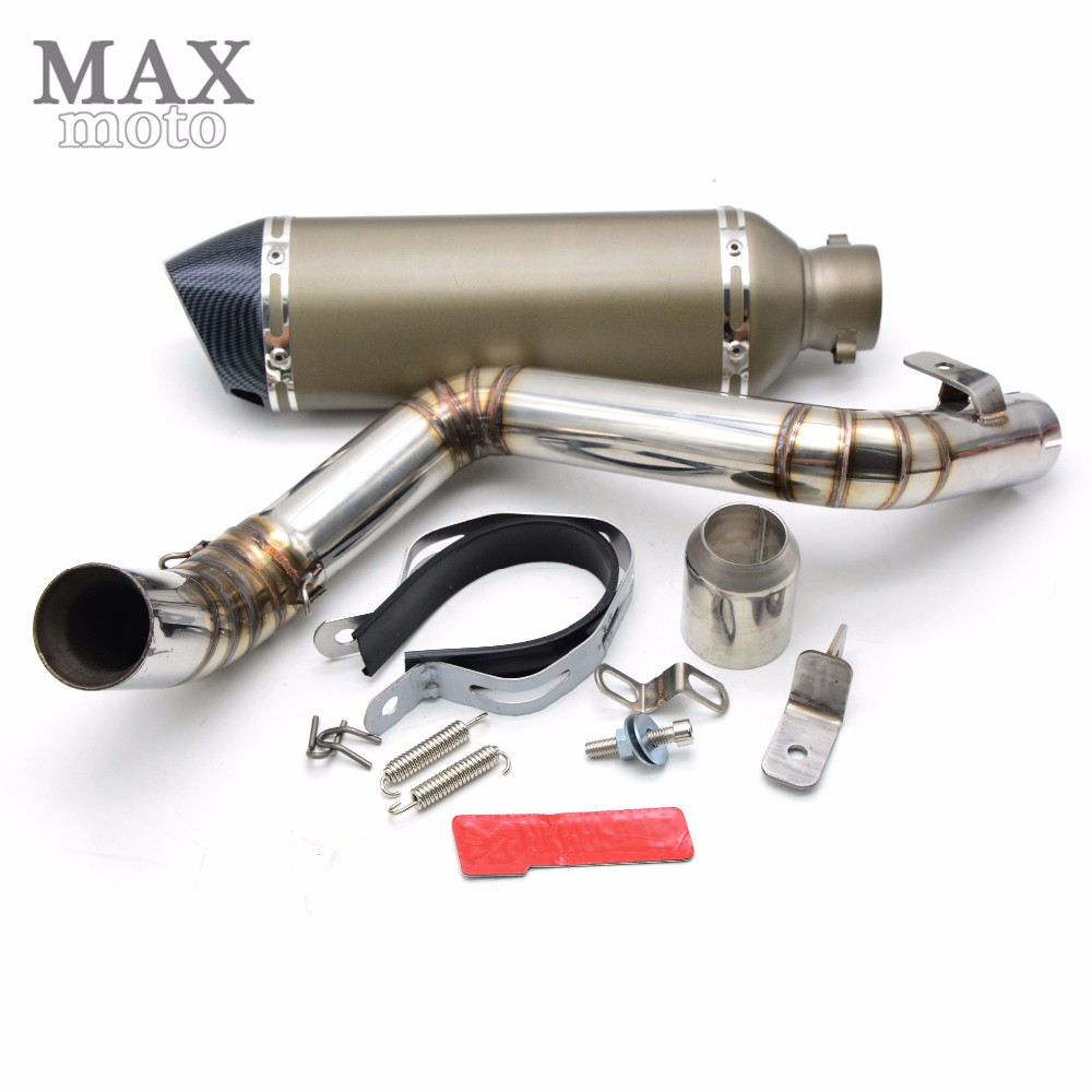 motorcycle middle of exhaust pipe escapamento de moto Akrapovic muffler exhaust pipe for KTM DUKE 200/DUKE 390 2012 2013 2014