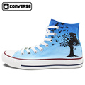 The Beatles Blackbird Converse All Star Design Custom Shoes Hand Painted Shoes High Top Canvas Sneakers