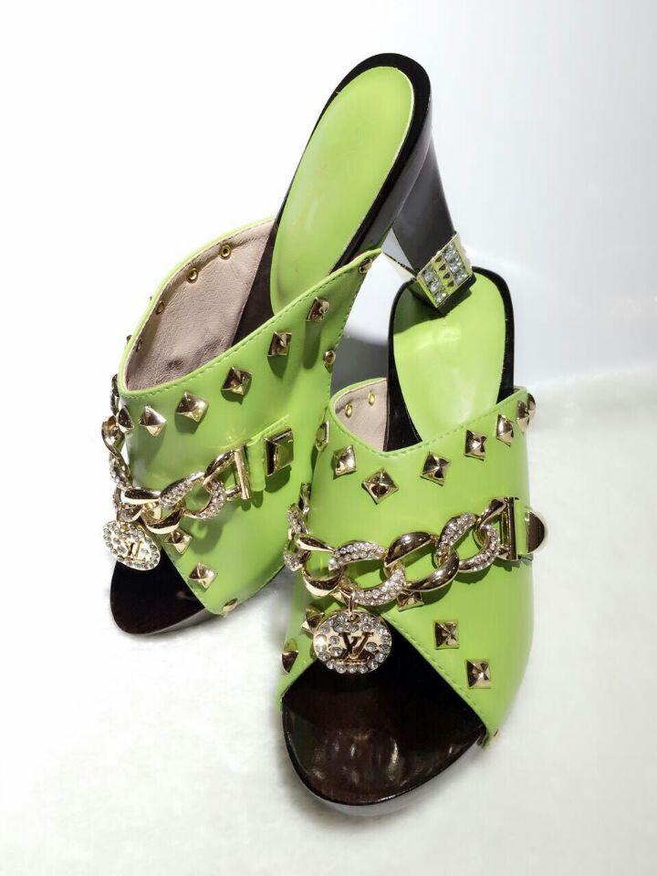 2015 High Quality Green Fashion Wedding ShoesItalian Shoes And Bags Set To Match Free Shipping
