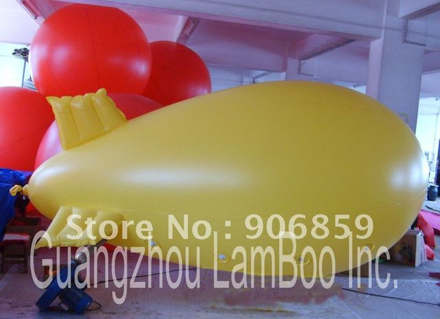 FREE Shipping/4 meters Long Inflatable Advertising Helium Blimp/Airship/Zeppeline for Events/Exhibition/Solid color