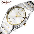 Wrist Watches For Women Men Quartz Analog Rhinestones Coffee Gold Stainless Steel Strap Ladies Dress Watch