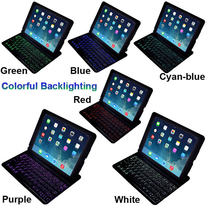 Free Singapore post model F5S Automatically Connected Bluetooth Keyboard Case For Apple ipad 5 Air(China (Mainland))