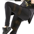 Women s Compression Pants Best Full Legging Tights for Running Yoga Gym Sports Sleek Contrast Mesh
