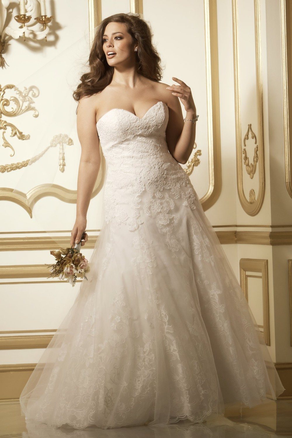2014 new design sweetheart a line long bridal gowns big for Colored wedding dresses plus size