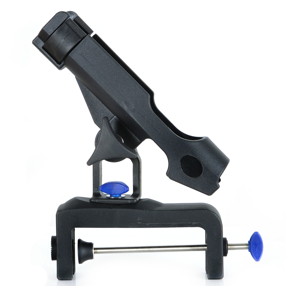 Free shipping piscifun fishing rod holder black plastic for Fishing rod accessories