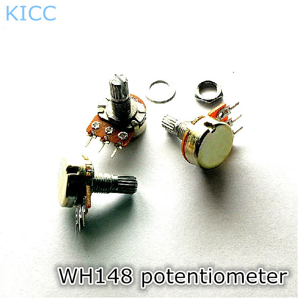 Гаджет  WH148 1K B1K 3Pin 15mm Horizontal Single joint potentiometer (5Pcs/Lot) Free Shipping None Электронные компоненты и материалы
