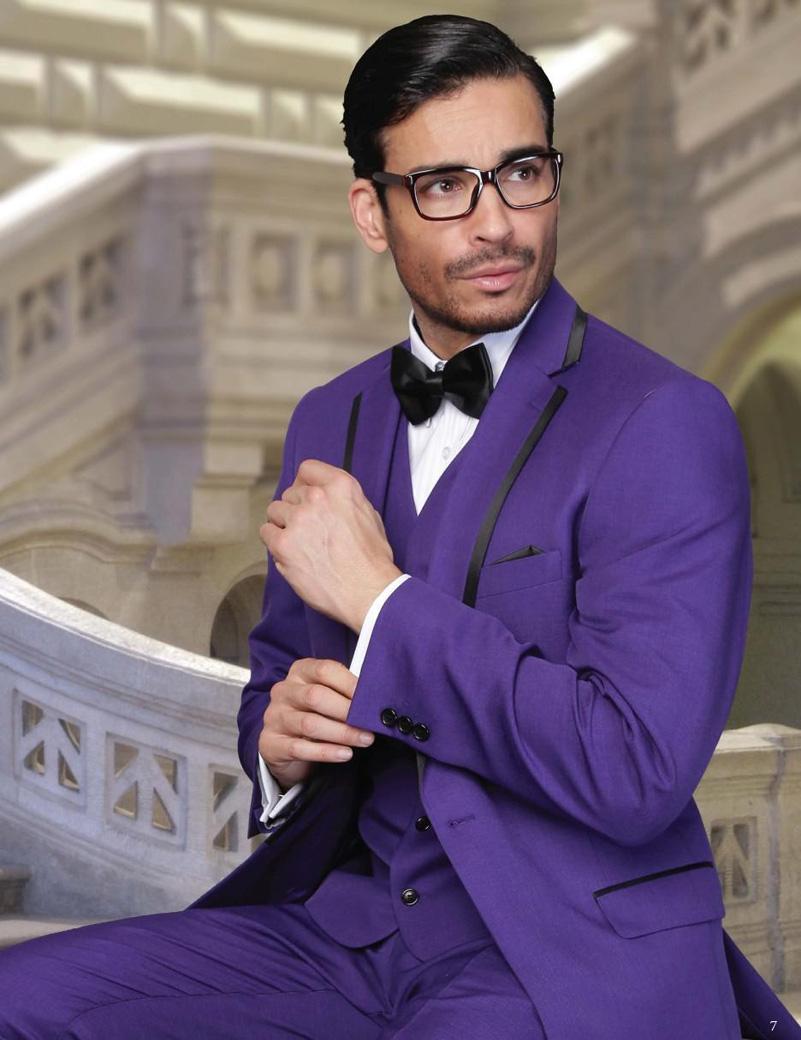 2016 Customized Purple Party Suit Wedding Tuxedos Custom Made Jacket+Pants+Tie+Vest Mens Suits Groom Tuxedos Best Men Suits