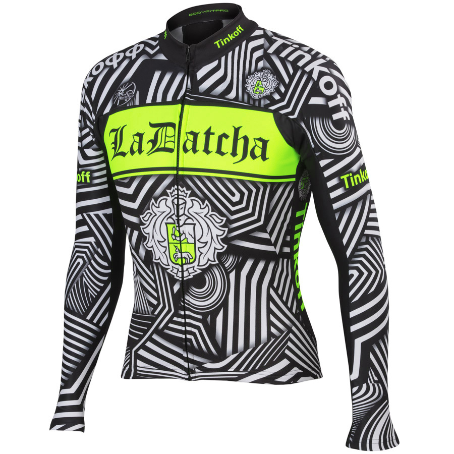 Sport Tinkoff Team Fluorescent Green Cycling Clothing Long Sleeve/Breathable Cycling Jersey/Mountain Bike Sportwear/Ropa Ciclism(China (Mainland))