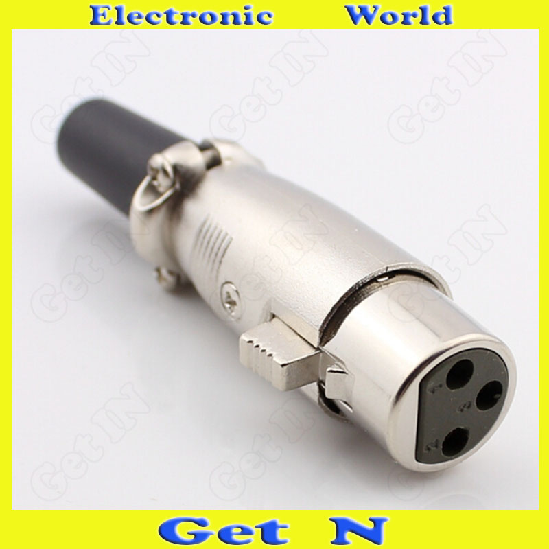 30pcs Japansese Type 3-Pole/Pin Cannon Female Connector Plug for Microphone Cannon Female<br><br>Aliexpress