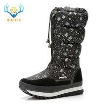 Çizmeler kadın kahverengi kar botları 50% doğal kürk sıcak ayakkabı yüksek ayakkabı zip artı boyutu kış tarzı 2019 yeni tasarım ücretsiz kargo(China)