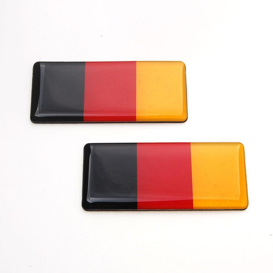 100 Pcs Car Germany German Flag Resin Fender Emblem Sticker For Mk3 A4 Hood Trunk(China (Mainland))