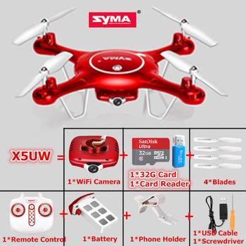 Original SYMA X5UW 720P 0.3MP WiFi Camera RC Drone 2.4G Remote Control toys 4CH 6-Axis RC Quadcopter helicopter
