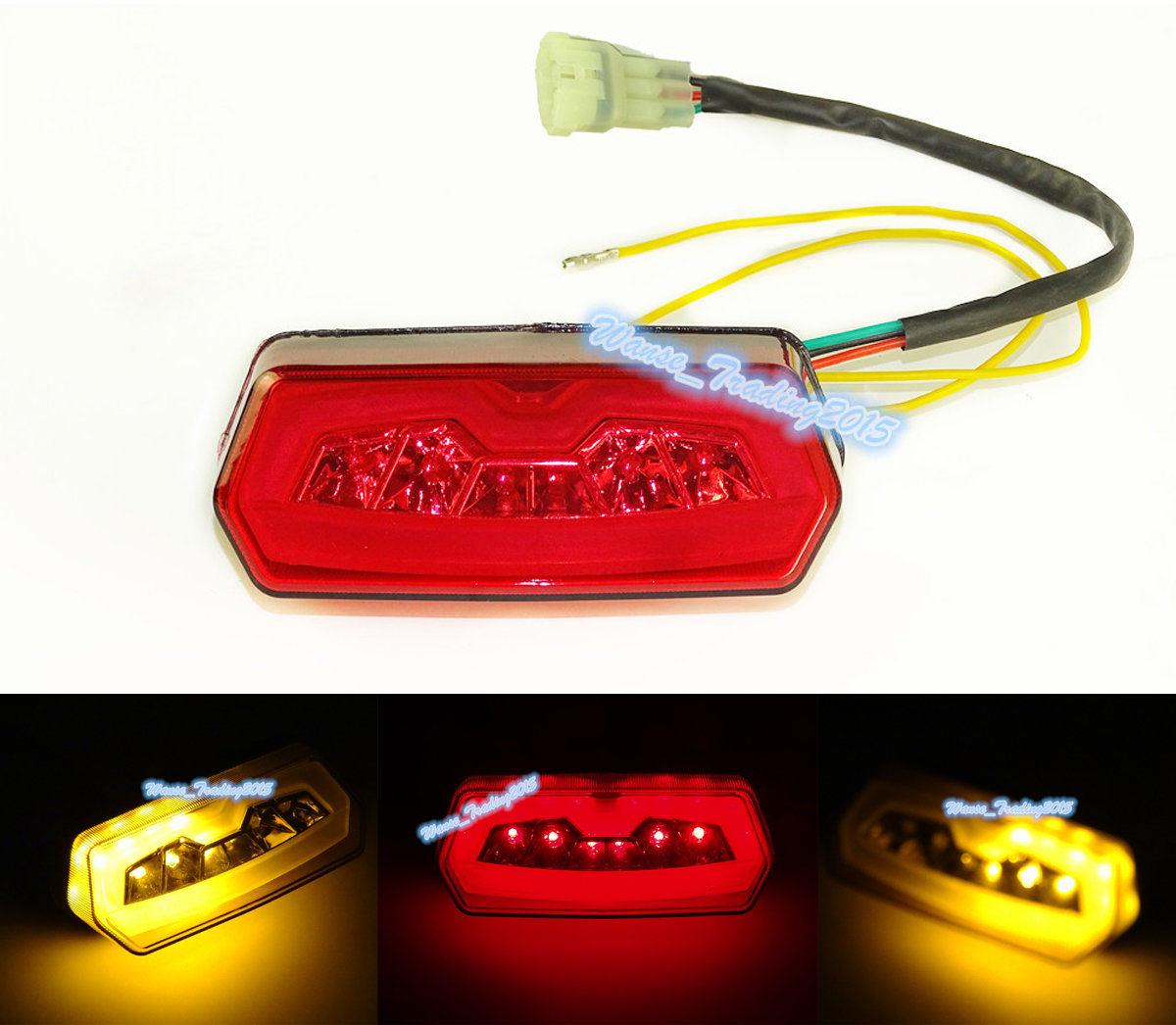 Chrome Led Taillight Tail Brake Turn Signals Blinker Integrated Light Lamp Red 2013 2014 2015 HONDA Grom MSX 125 MSX125 - Fast_Furious2015 store