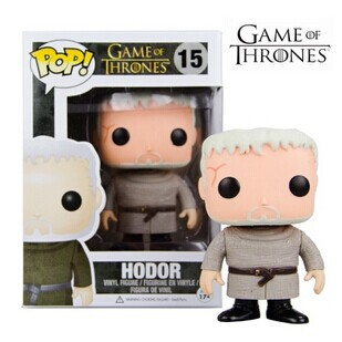 NEW 2015 Genuine FUNKO POP 10cm Game of Thrones HODOR action figure Bobble Head Q Edition new box for Car Decoration(China (Mainland))
