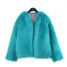 2015 Hot Fashion New Ladies Womens Warm Faux Fur Fox Coat jacket Winter Parka Outerwear 10 Color Plus Size S M L XL (DX100)(China (Mainland))