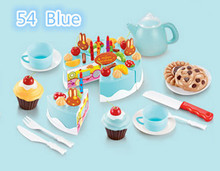 75pcs Birthday Cake DIY Model 3+ Children Kids Early Educational Classic Toy Pretend Play Kitchen Food Plastic Toy(China (Mainland))