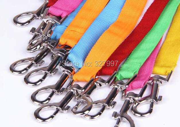 Free Shipping Global Baby multi Colors Nylon Rraction Rope Dog Pet Double leashes Leading 5pcs/lot(China (Mainland))