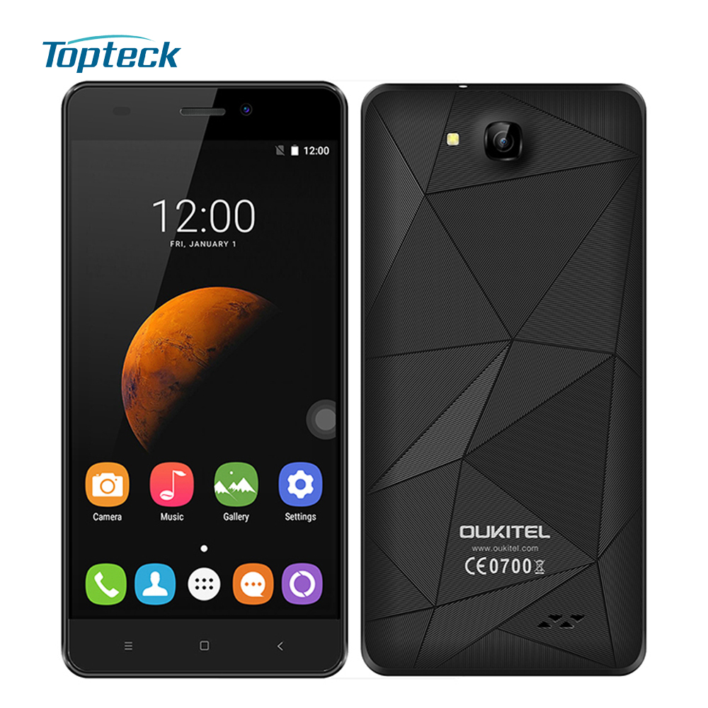 """Original OUKITEL C3 5.0"""" HD 1280* 720 IPS Smartphone Android 6.0 MTK6580A Quad Core 1.3GHz 1GB+8GB 8.0MP 2000mAh 3G Mobile Phone(China (Mainland))"""