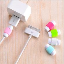 Silicone Data Charger Cable Saver Cable Protector for Apple iPad Mini iPhone 4s 5 5s 6 Plus Protective(China (Mainland))