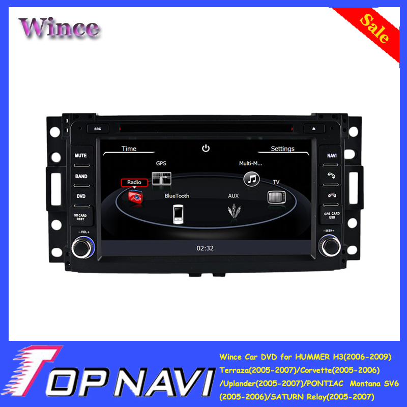 Top DHL Free Shipping Wince Car DVD Stereo For HUMMER H3/Terraza/Corvette/Uplander/Montana SV6/SATURN Relay With GPS Free Map<br><br>Aliexpress