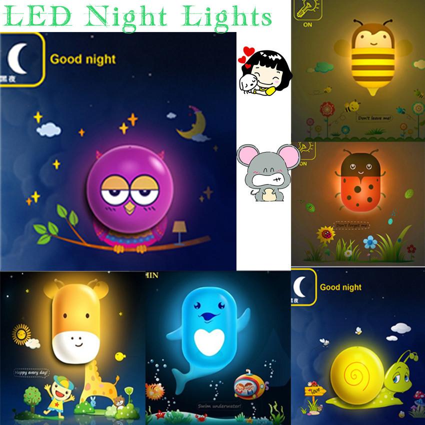 Lovely LED Night Lights 2014 Baby Bedroom DIY Children Kids Kid Room Lamp Adesivo De Parede Wall Sticker Stickers Night Light(China (Mainland))
