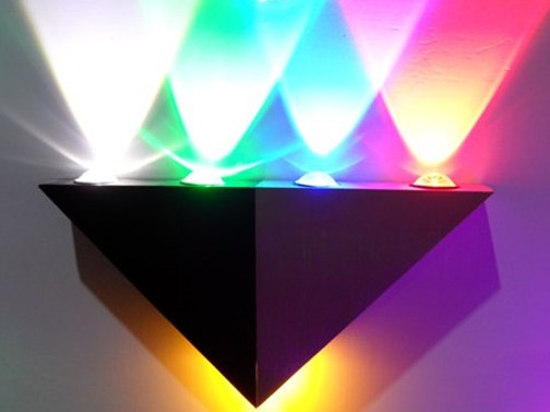 :4*1w led wall lamps,led lamps rgb color.AC95-265V input voltage,led
