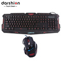 Russian keyboard mouse combo Backlit LED gaming led 3color fingerboard Colorful gaming mouse breathing light 7