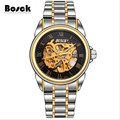 BOSCK men s casual waterproof mechanical watches stainless steel fashion sports watches relojes hombre 2016