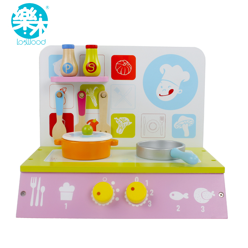 Baby wooden kitchen toy set kid girls children cooking for Kitchen set for babies
