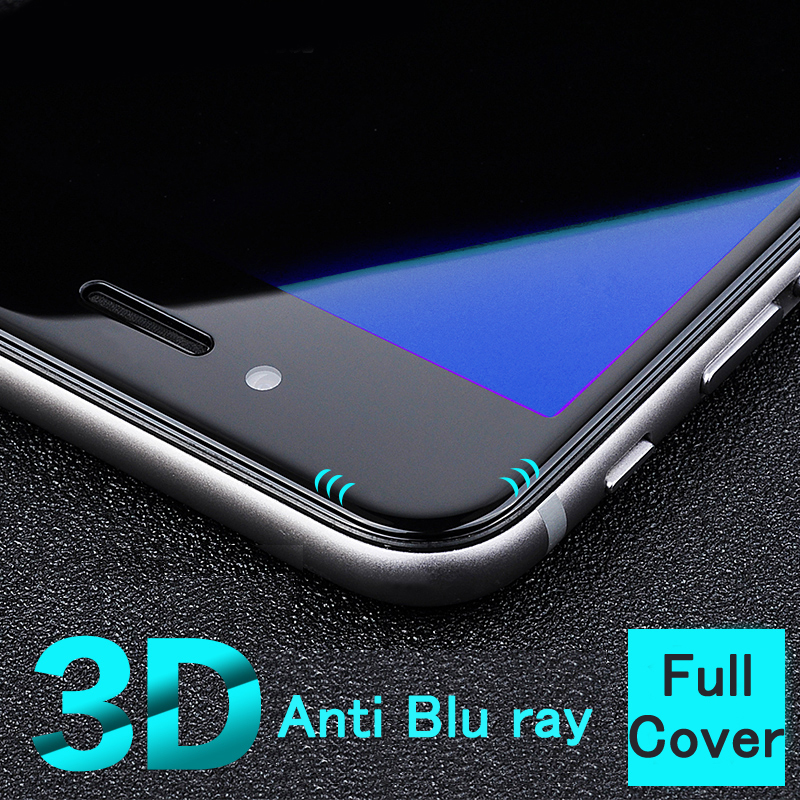 New best real 3D Curved full cover Anti Blu ray Blue Light eyes care Tempered Glass Screen Protector film for iphone 6 6s plus(China (Mainland))