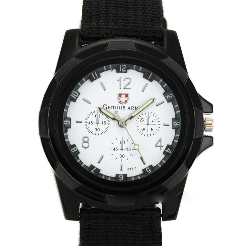 Fashion Soldier Military Men Outdoor Sports Watches Quartz Canvas Strap Fabric Watch Male Casual - Super-store Co.,Ltd store
