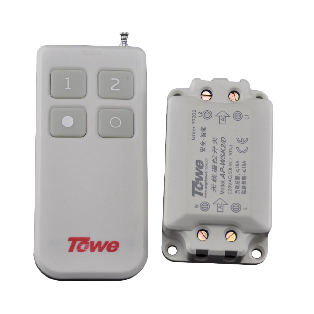 TOWE AP-WSK2-D ceiling lamp wireless remote control segment switch 220V two way autocephaly remote control switch<br><br>Aliexpress