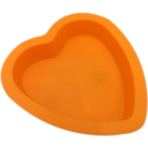 heart silicone cake mould cooking tools oven freezer blue orange green chocolate BPA free(China (Mainland))