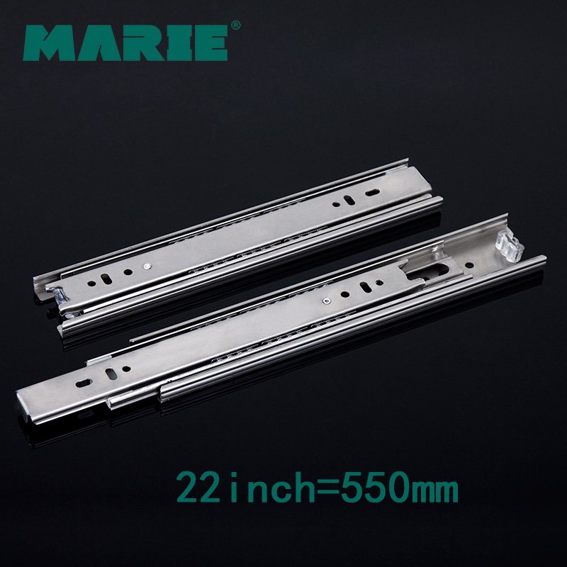 MARIE HARDWARE 22 inch furniture cabinet ball bearing drawer slides, 304 stainless steel(China (Mainland))