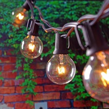 25Ft Globe String Lights with 25 G40 Bulbs- Vintage Patio Garden Light string for Deco,Outdoor lights string for Christmas Party(China (Mainland))