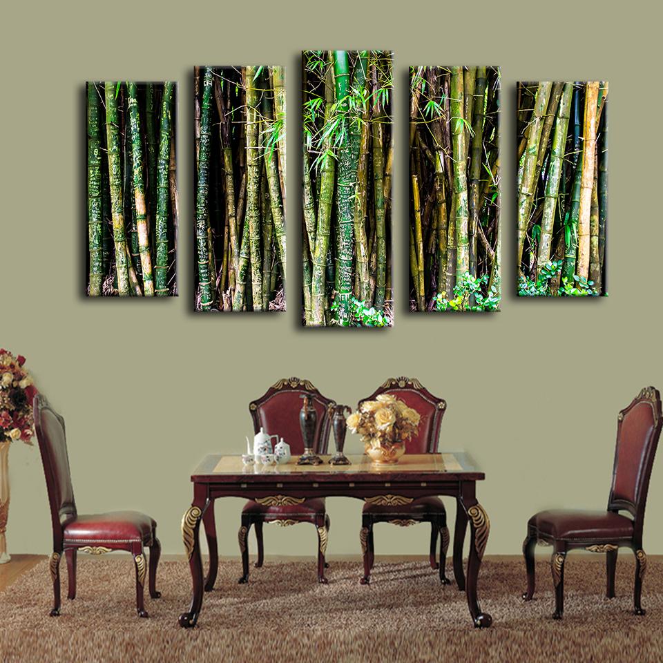 achetez en gros bambou peinture murale en ligne des grossistes bambou peinture murale chinois. Black Bedroom Furniture Sets. Home Design Ideas