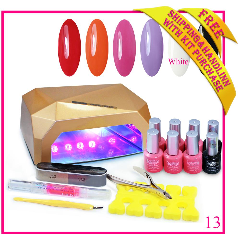 Free shipping gel nail polish 240 colors 36W LED U...