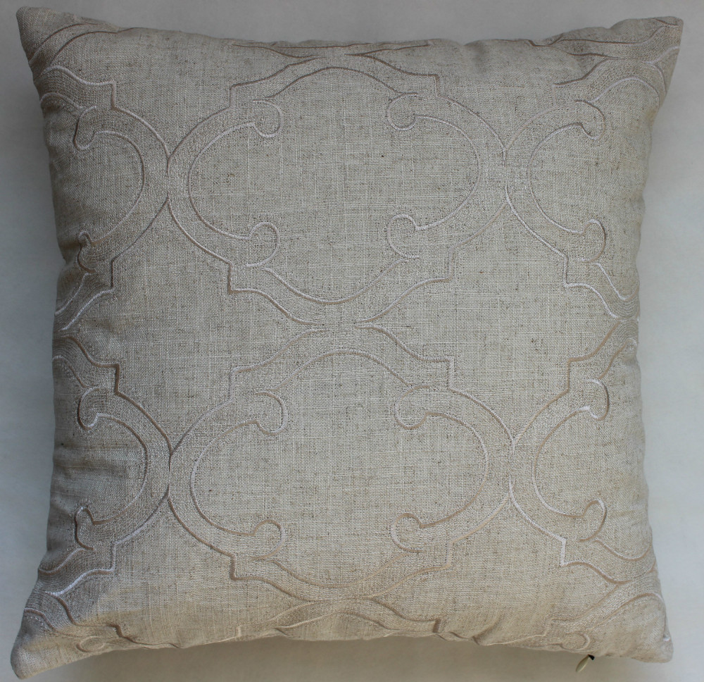 VEZO HOME embroidered vintage design cotton linen sofa cushions cover home decorative throw ...