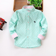 New arrival, 2015 Spring  Kids boy Brand fashion shirts Solid cotton shirts,Fit for 3-9 years old boys(China (Mainland))