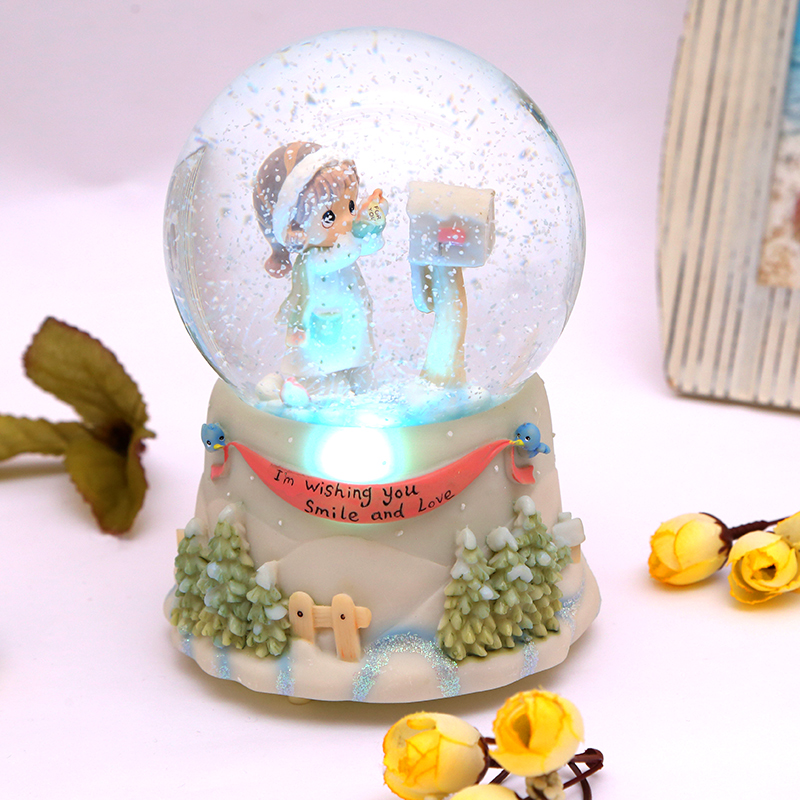 Snow globe crystal ball music box practical ornaments for Top 10 practical christmas gifts