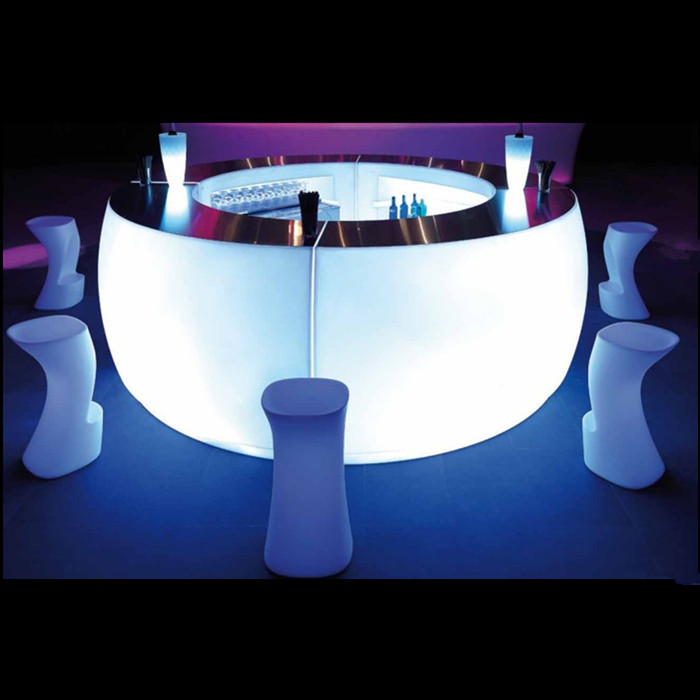 Value LED light bar table luminous round outdoor tables and chairs commercial entertainment l emitting furniture Stool(China (Mainland))
