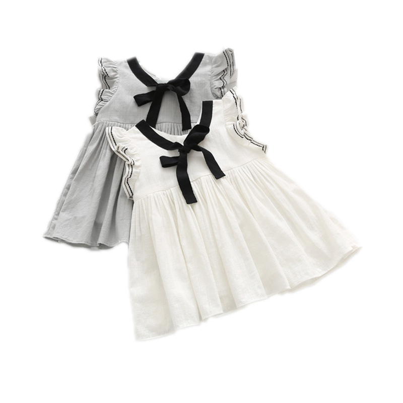 Girl Dress Summer 2016 New Solid Kids Dresses For Girls Brand Designer Clothes Toddler Girl Vestidos For Party Holiday 2-7T(China (Mainland))