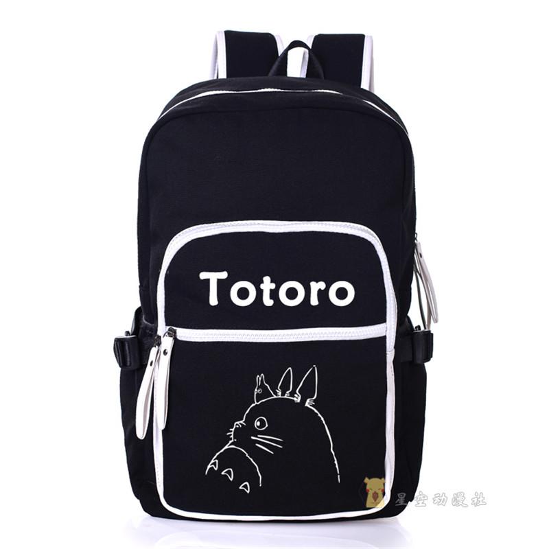 My Neighbor Totoro Canvas Shoulders Bag Students School Backpack Cartoon Unisex Travel Laptop Bags(China (Mainland))