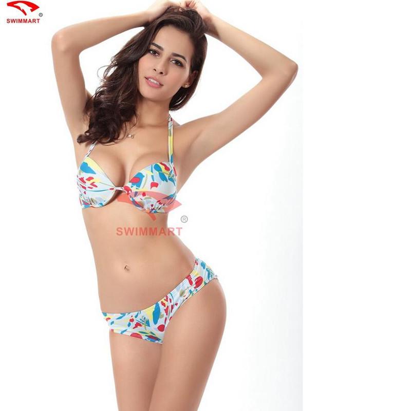 2016 bikini swimwear classical bikini push up floral print. Black Bedroom Furniture Sets. Home Design Ideas