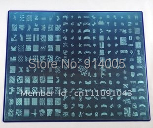 489 Designs!!! Large Size Konad Stamp Stamping Image Plate Nail Art BIG Template (1pc A + 1pc B)